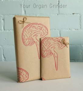 Brain Stamp Wrapping Paper